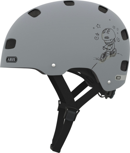 "Kask ""ABUS SCRAPER KID grey ride"""